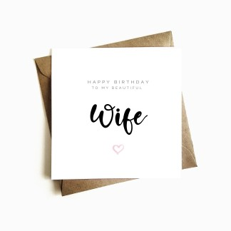 Gorgeous Wife Birthday Card