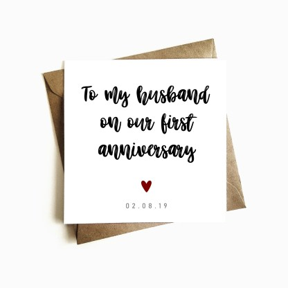 Personalised Anniversary Ccard