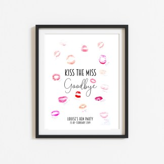 Kiss The Miss Goodbye Personalised Print