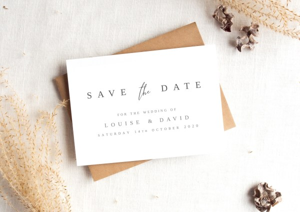 Contemporary Save the Date