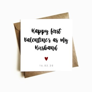 First valentine's as my husband card