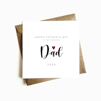 Personalised Father's Day Card