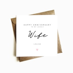 Personalised Wife Anniversary Card