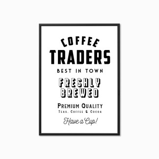 'Coffee Traders' Vintage Style Kitchen Print