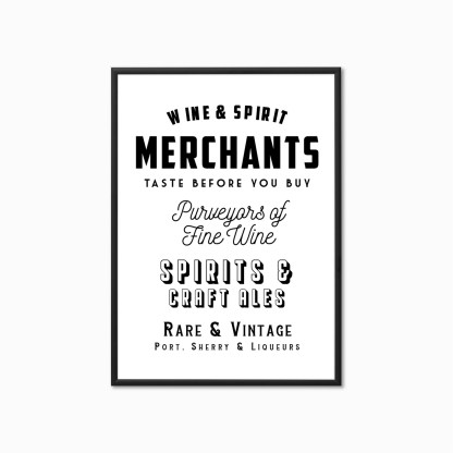 'Wine Merchants' Vintage Style Kitchen Print