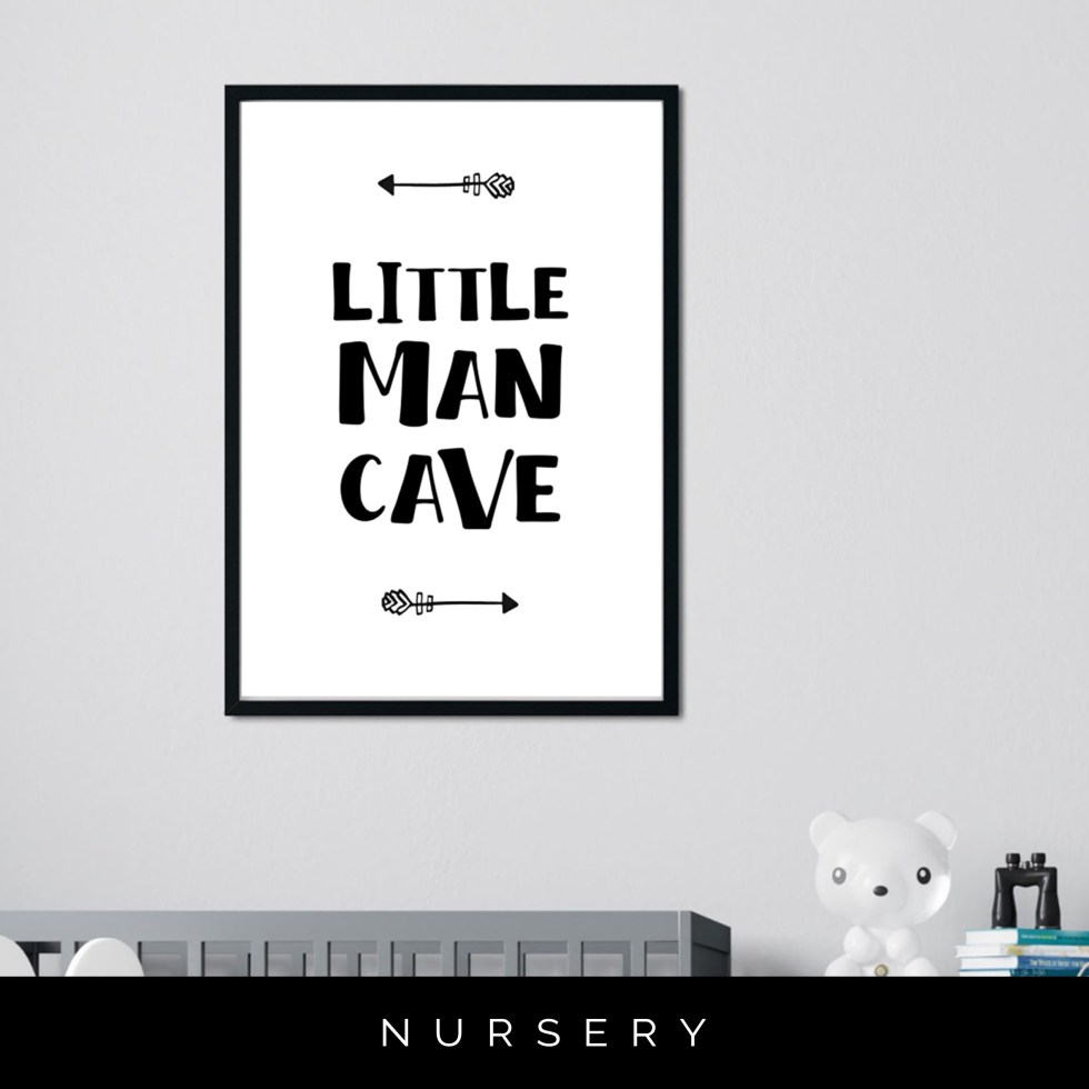 Nursery Print 'Little Man Cave'