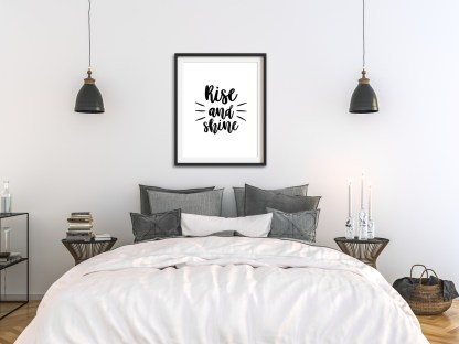 'Rise And Shine' Bedroom Print