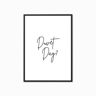 'Duvet Day?' Bedroom Print