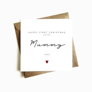 Personalised 'First Christmas as my Mummy' Card