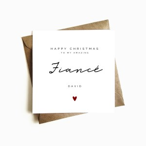Personalised Fiancé Christmas Card