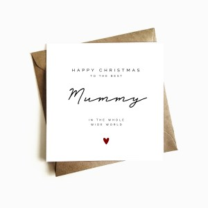'Best Mummy in the World' Christmas Card