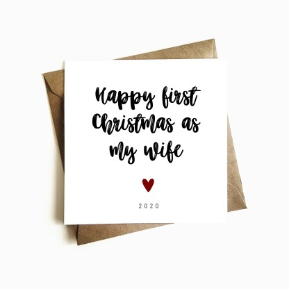'First Christmas as my Wife' Card