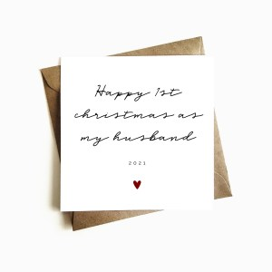 Personalised 'First Christmas as my Husband' Card
