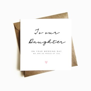 'To our Daughter' Wedding Day Card