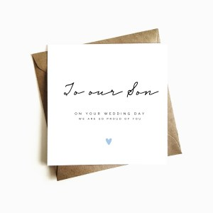 'To our Son' Wedding Day Card