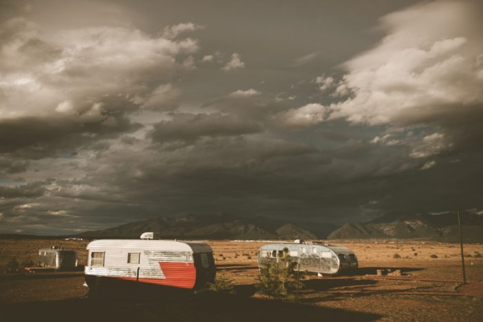 Airstreams at Hotel Luna Mystica in Taos New Mexico