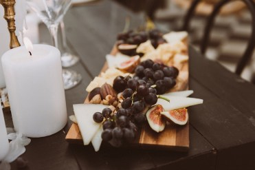 Charcuterie board | Ceremony details at Treehaus Colorado | Reception details at Treehaus Colorado | Elopement at Treehaus, Colorado | Treehaus Colorado | Colorado elopement | Treehaus elopement | Colorado elopement venue | Colorado mountain elopement venue | Unique elopement venue | Elopement venue in Colorado | Ashley Joyce Photography 2020