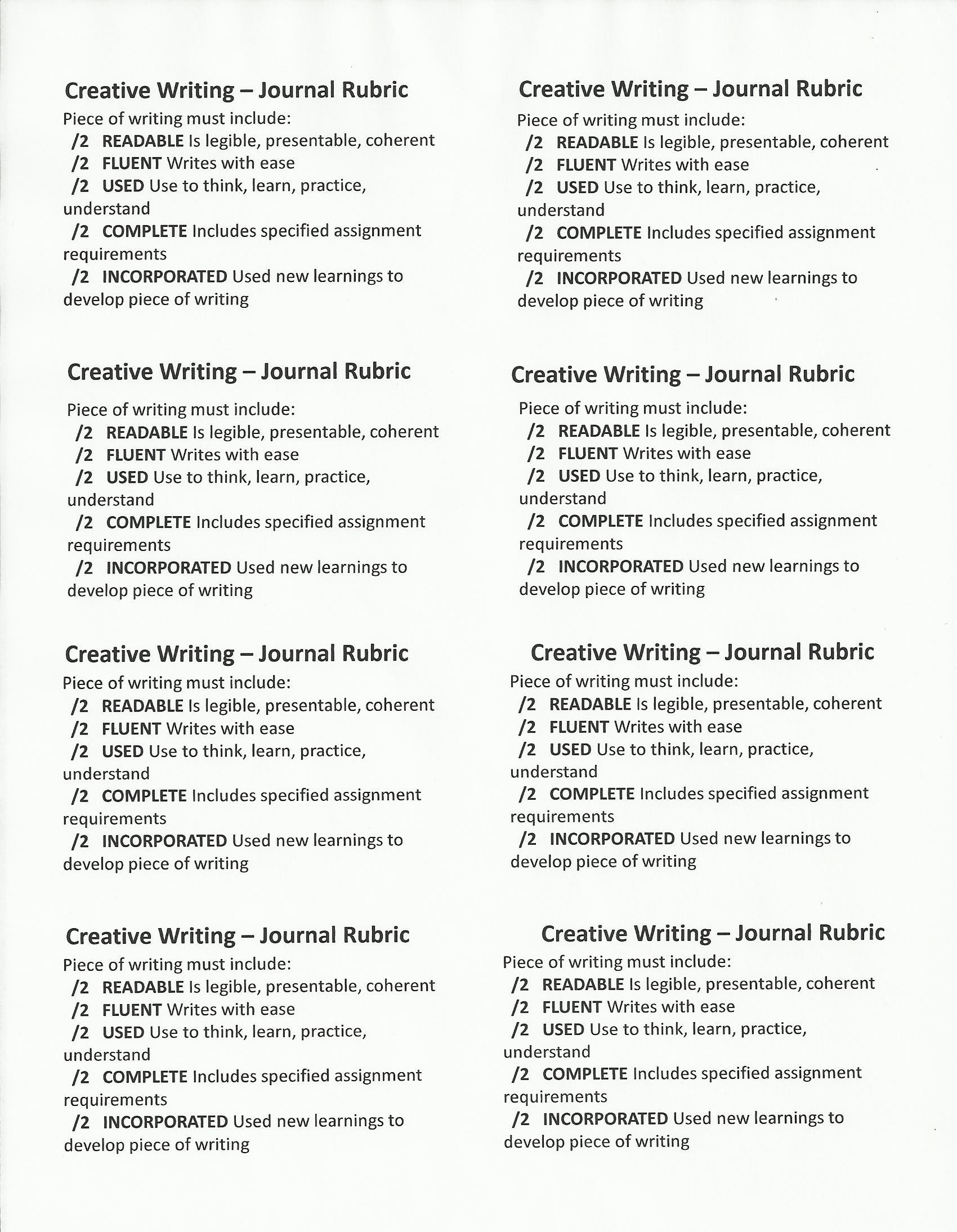 Creative Writing Language