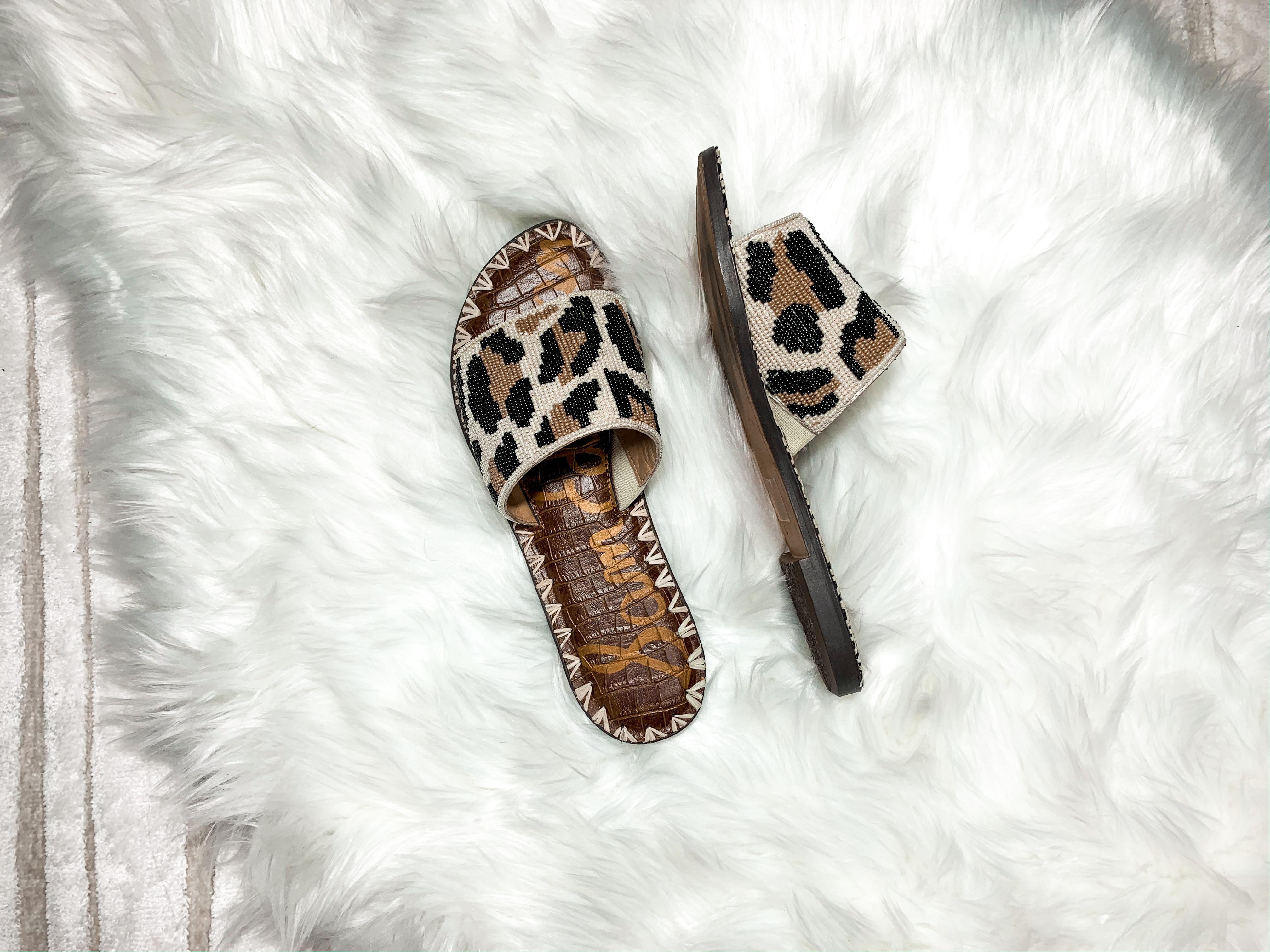leopard summer sandals