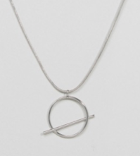 Pieces | Pieces Kiva Long Circle & Bar Pendant Necklace Safari, Today at 20.04.51