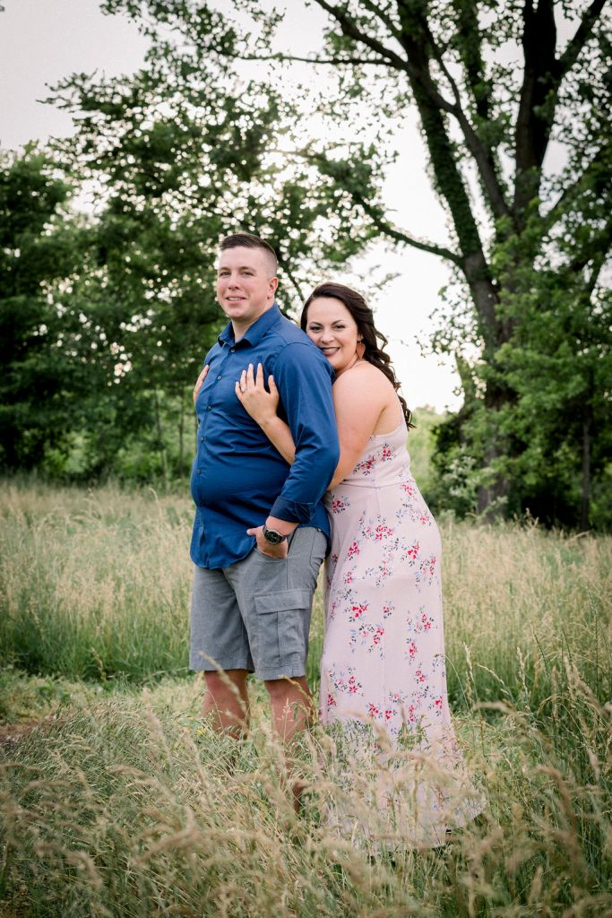 Engagement photography by Ashley Lynn Photography at Cox Arboretum