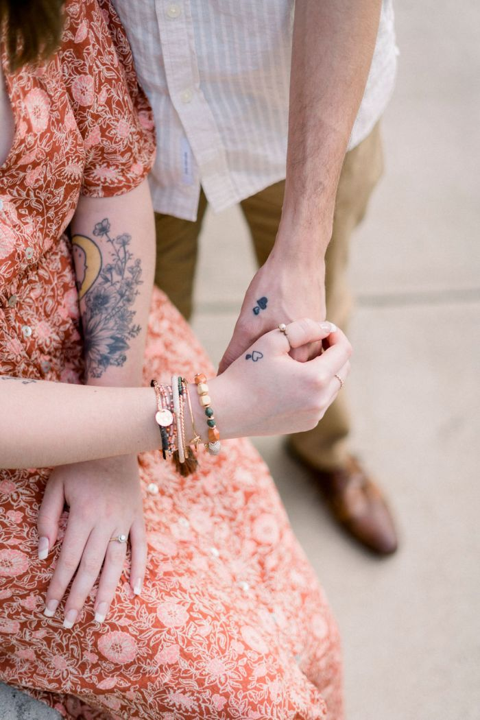 Tattooed Couple Outdoor Engagement Session