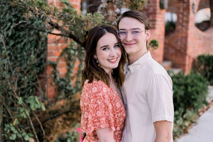 Downtown Yellow Springs Engagement Portraits