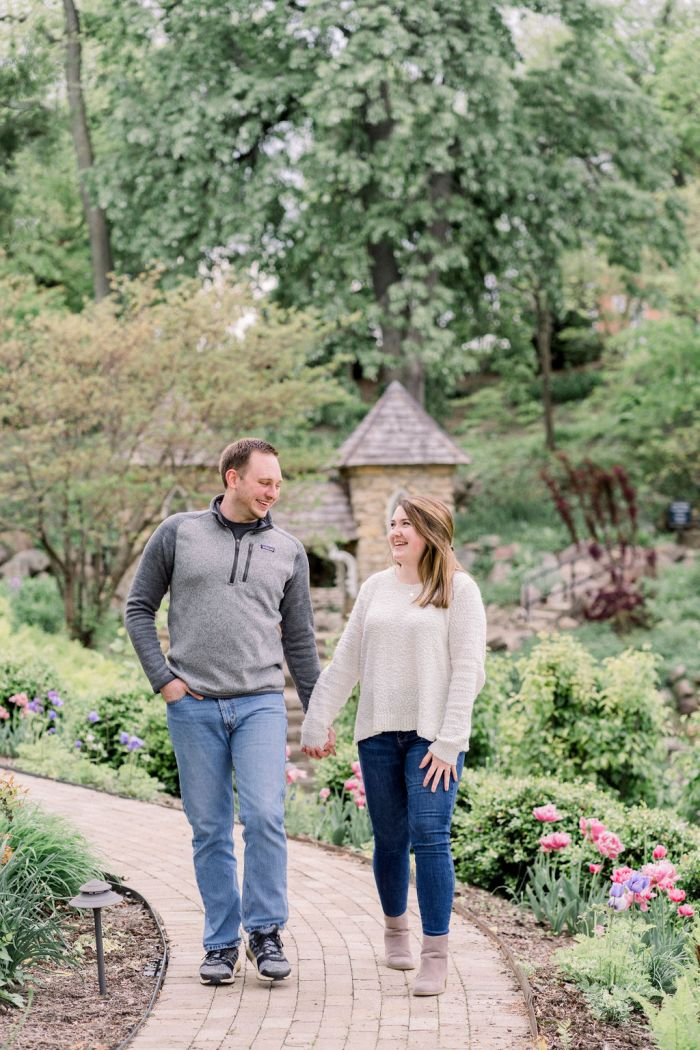 Engagement Portraits at the VA Grotto Gardens by Ashley Lynn Photography