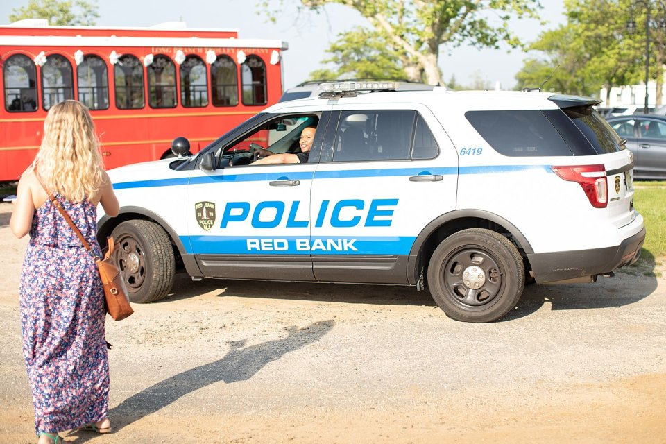 The bridal party had some fans that day: the Red Bank Police Department!!