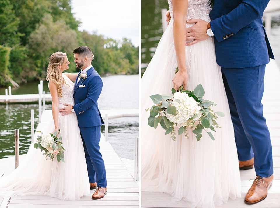 Ashley Mac Photographs photographs couple on Lake House Wedding