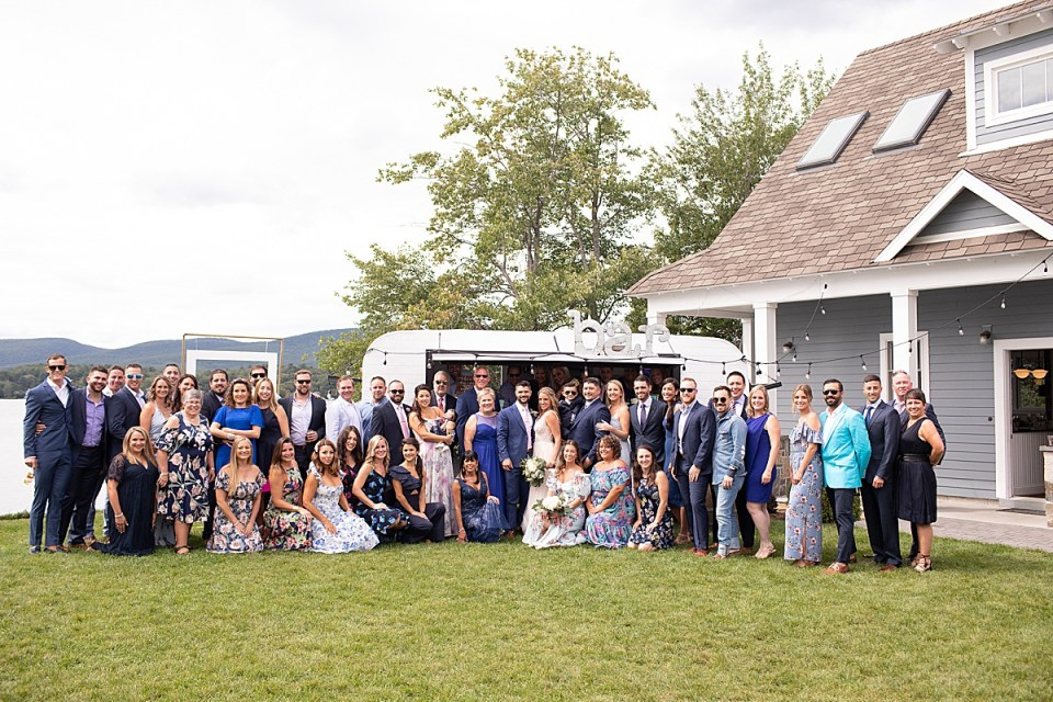 Ashley Mac Photographs photographs lakeside wedding guests