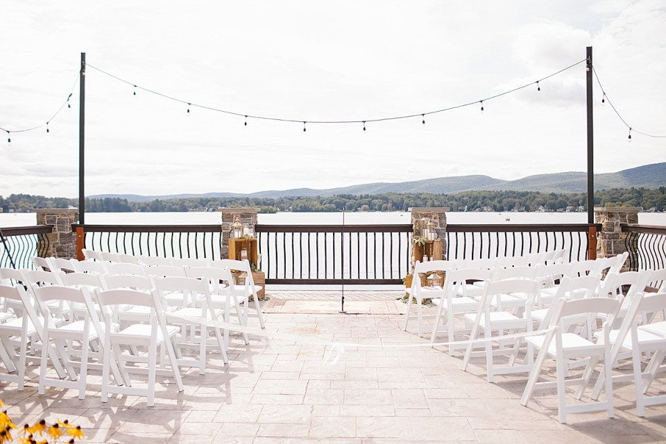 lakeside wedding ceremony photographed by Ashley Mac Photographs
