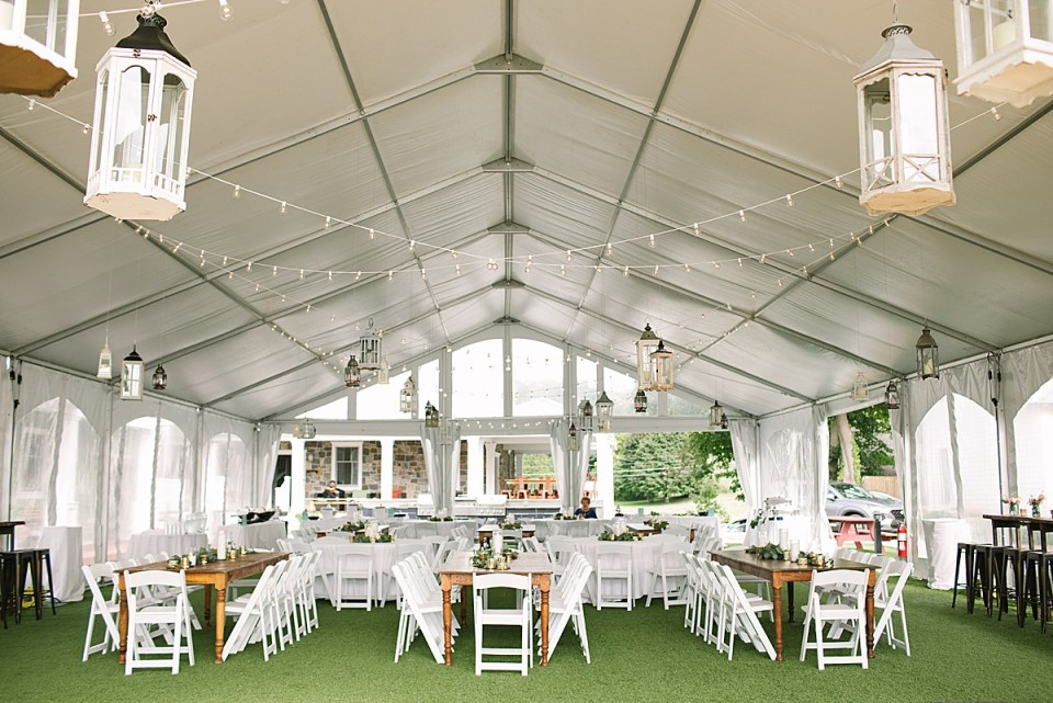 tented wedding reception at the Lake House photographed by Ashley Mac Photographs