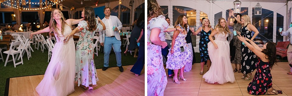 dancing fun at Lake House wedding photographed by MA wedding photographer Ashley Mac Photographs