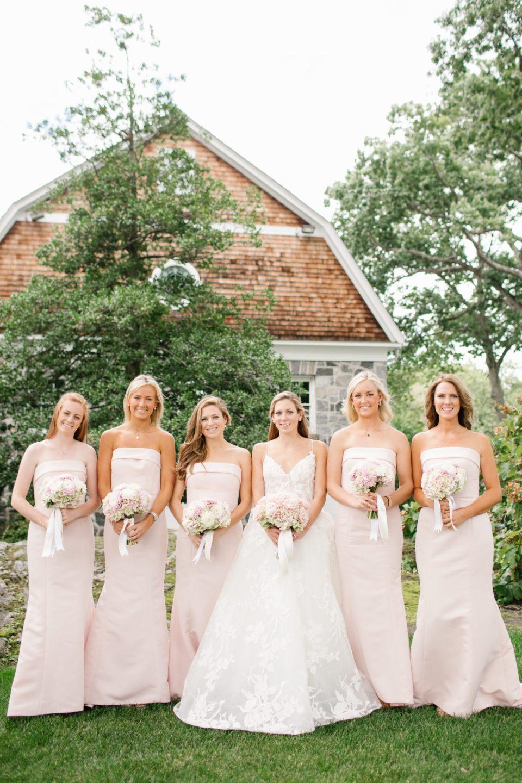 bridesmaid portraits by Ashley Mac Photographs for Apawamis Club Wedding
