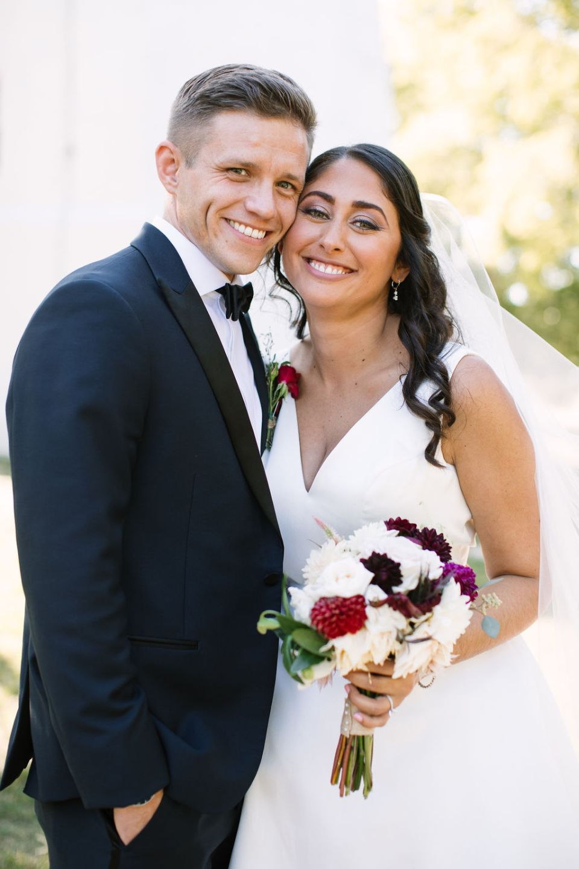 romantic fall wedding portraits by Ashley Mac Photographs