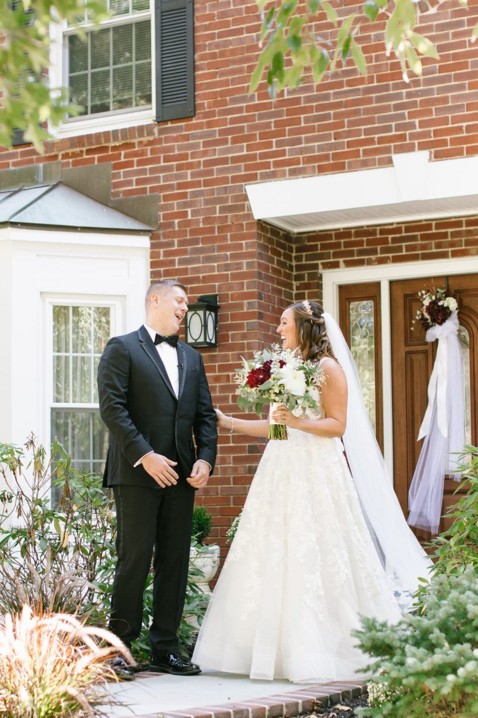 first look at NJ wedding day with Ashley Mac Photographs