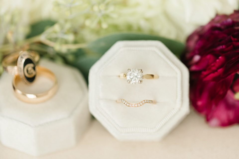 wedding rings photographed by Ashley Mac Photographs