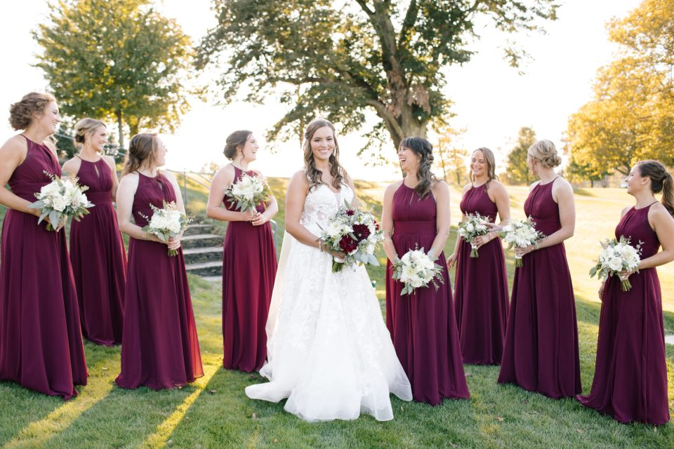 fall bridal party inspiration photographed by Ashley Mac Photographs