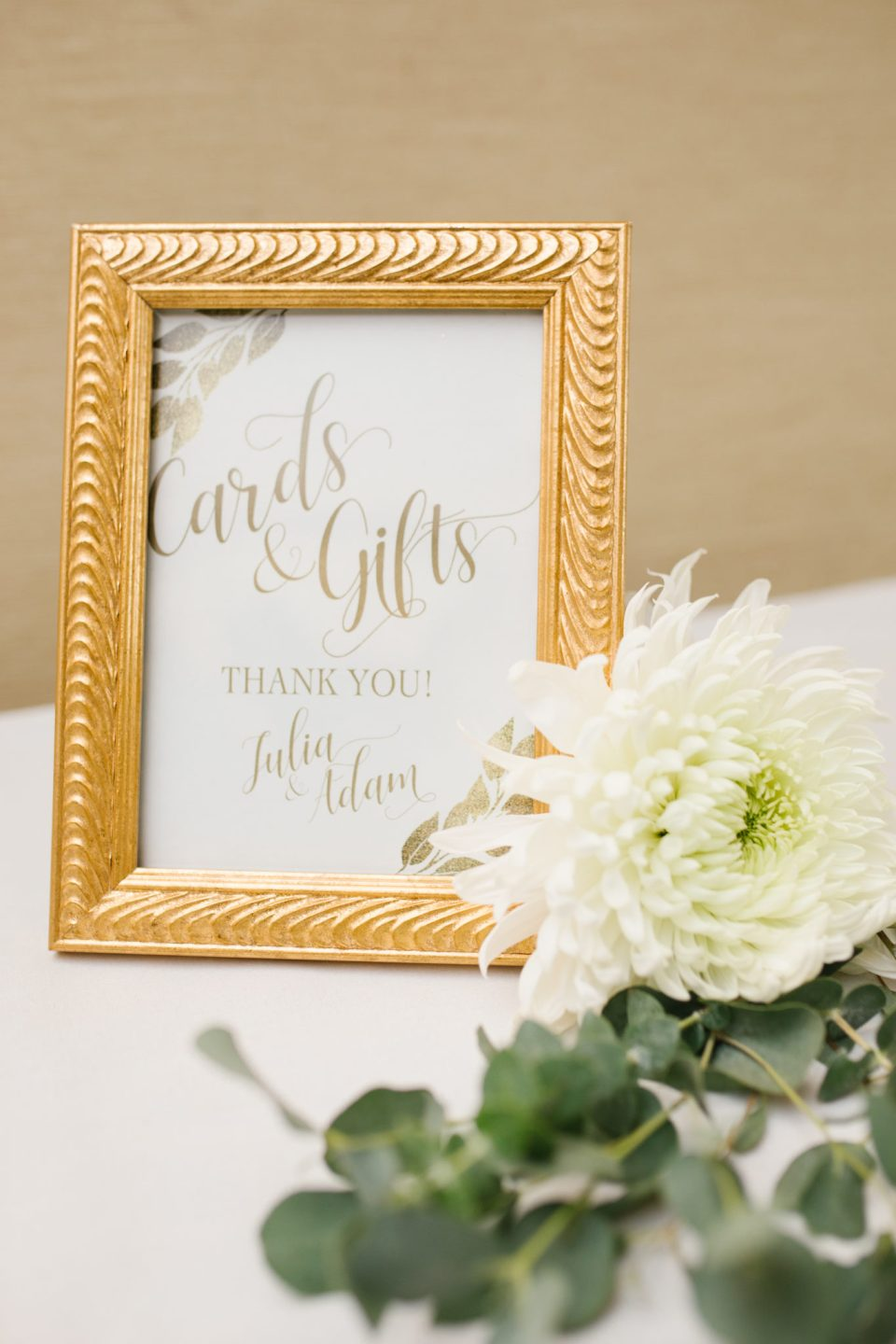 signage at wedding reception in New Jersey
