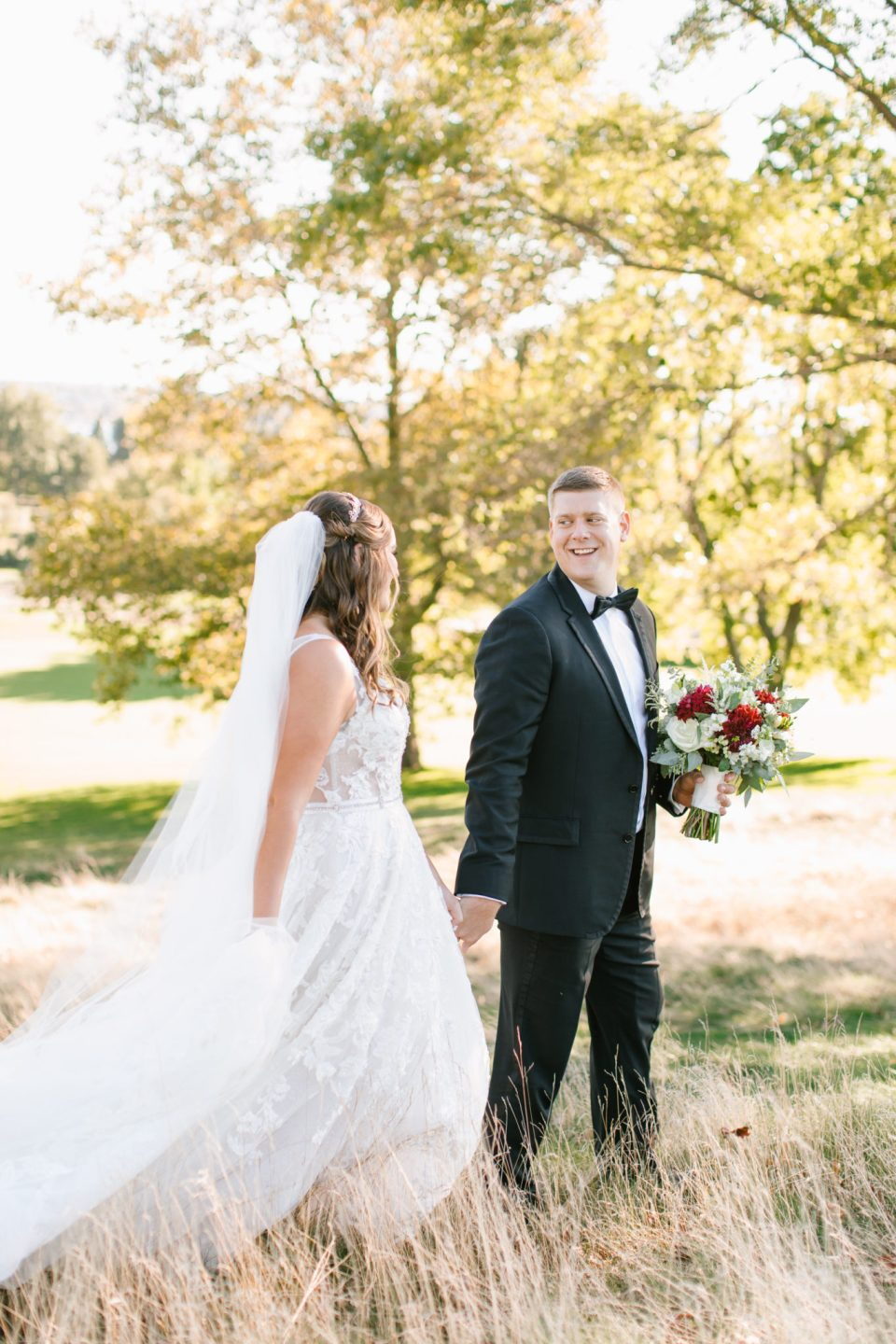 classic fall wedding portraits with Ashley Mac Photographs