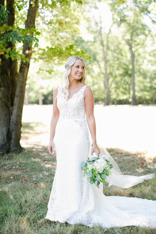 bridal portrait by NJ wedding photographer Ashley Mac Photographs