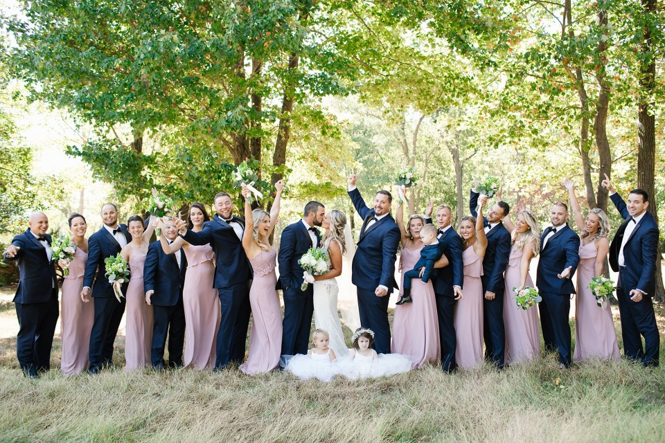 summer wedding party portraits by Ashley Mac Photographs in Rumson NJ
