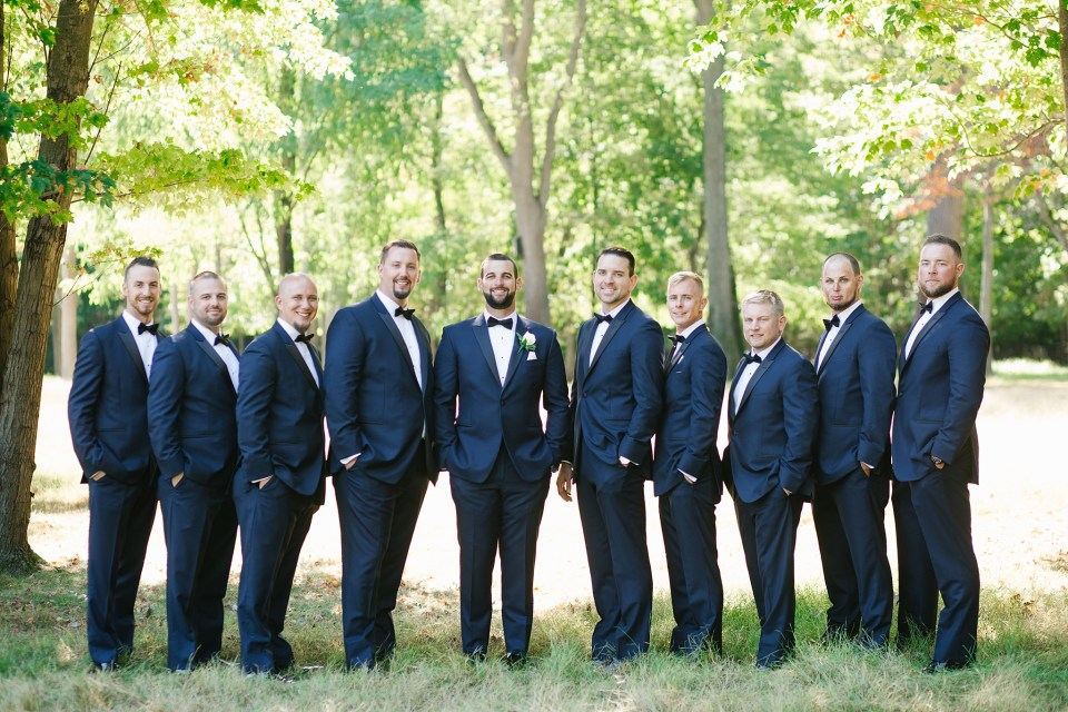 groomsmen portraits with New Jersey wedding photographer Ashley Mac Photographs