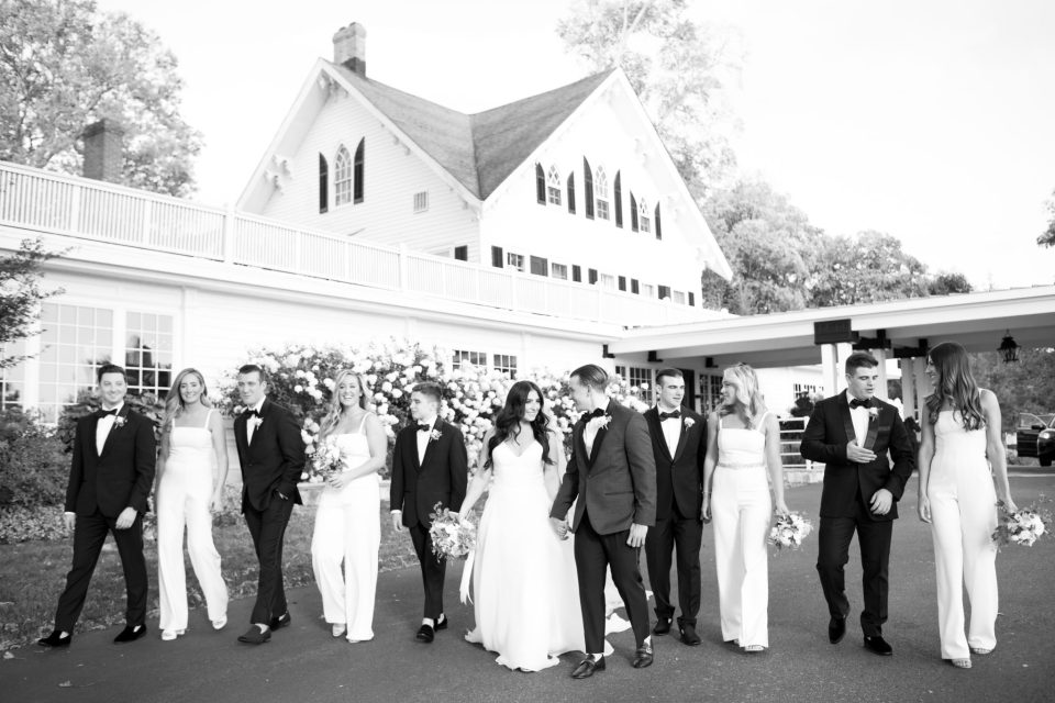 chic bridal party for New Jersey wedding photographed by Ashley Mac Photographs