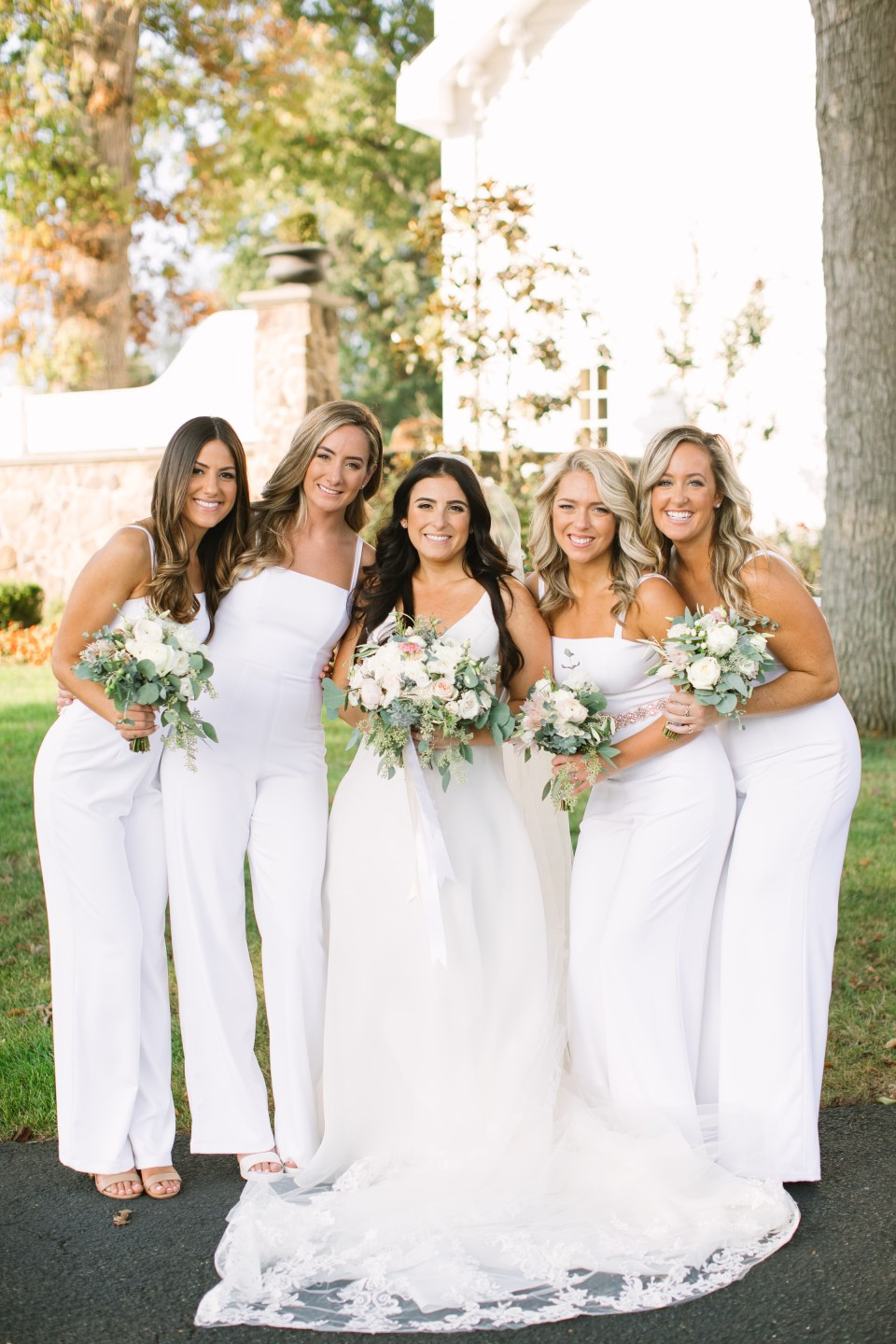 bridesmaid photos by Ashley Mac Photographs at Ryland Inn