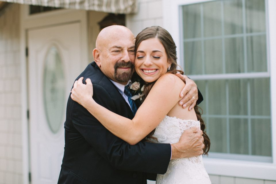 first look with dad photographed by NJ wedding photographer Ashley Mac Photographs