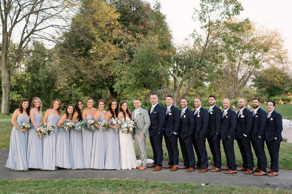 full bridal party photos at West Hills Country Club in NJ with Ashley Mac Photographs