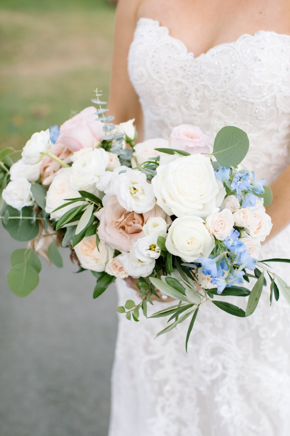 elegant wedding bouquet by Whisper and Brook Floral Company
