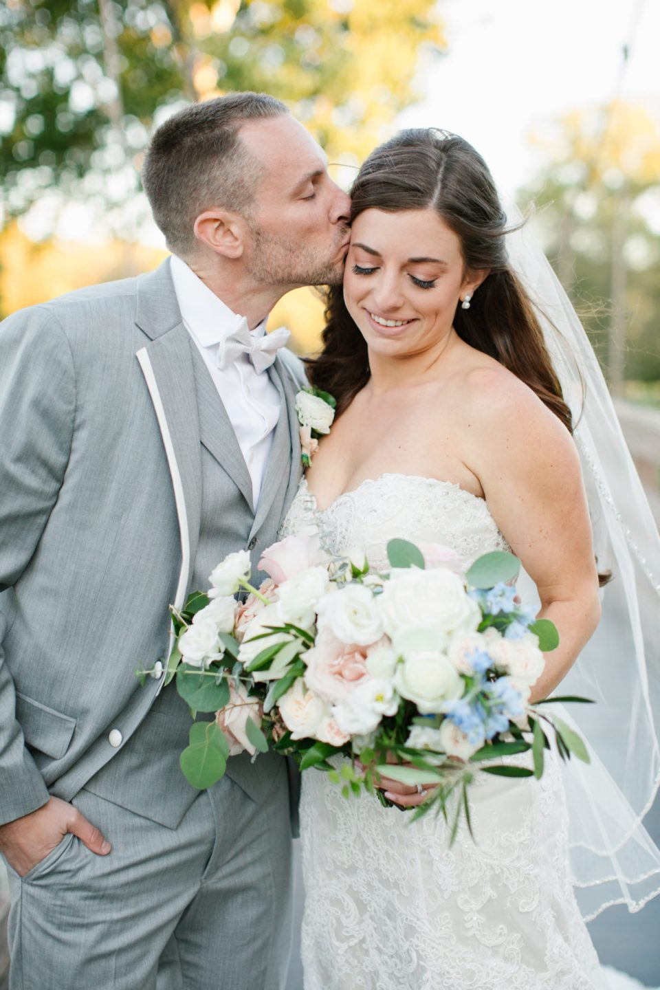 Ashley Mac Photographs photographs happy couple on wedding day in New Jersey